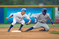 at Burlington Athletic Park on July 1, 2015 in Burlington, North Carolina.  The Royals defeated the Blue Jays 5-4. (Brian Westerholt/Four Seam Images)