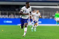 DALLAS, TX - JULY 25: Daryl Dike #11 of the United States moves off the ball during a game between Jamaica and USMNT at AT&T Stadium on July 25, 2021 in Dallas, Texas.