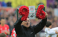 Liverpool supprter Barry Devonside, whose son Christopher died in the Hillsborough disaster, before the Barclays Premier League match between Swansea City and Liverpool at the Liberty Stadium, Swansea on Sunday May 1st 2016