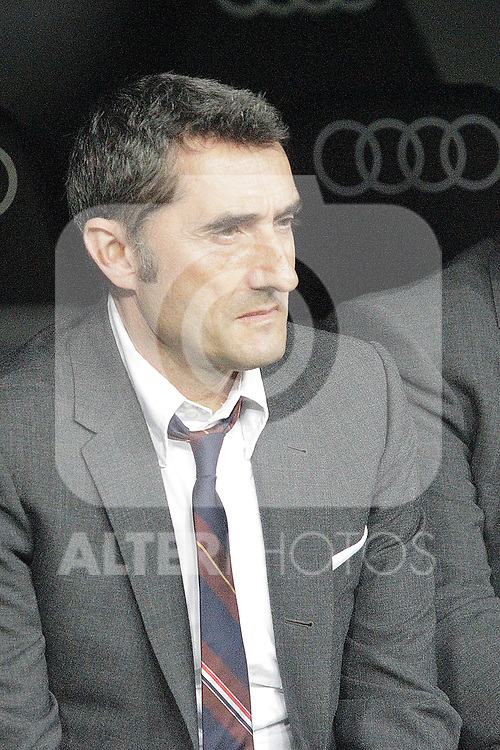 FC Barcelona's coach Ernesto Valverde during La Liga match. March 02,2019. (ALTERPHOTOS/Alconada)