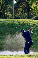 3rd July 2021, Detroit, MI, USA;  Phil Mickelson hits out of a sand trap on the 5th hole on July 3, 2021 during the Rocket Mortgage Classic at the Detroit Golf Club in Detroit, Michigan.