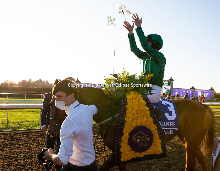 November 7, 2020 : Connections for Tarnawa, winner of the Longines Turf on Breeders' Cup Championship Saturday at Keeneland Race Course in Lexington, Kentucky on November 7, 2020. Bill Denver/Breeders' Cup/Eclipse Sportswire/CSM