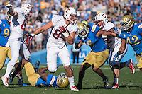 PASADENA, CA - November 28, 2014: The Stanford Cardinal vs the UCLA Bruins at the Rose Bowl in Pasadena, California. Final score, Stanford Cardinal 31, UCLA Bruins 10.