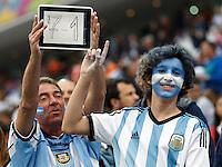 Argentina fans taunt the Brazil result
