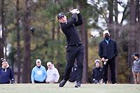 PINEHURST, NC - MARCH 02: Alex Fitzpatrick of Wake Forest University tees off on the 18th hole at Pinehurst No. 2 on March 02, 2021 in Pinehurst, North Carolina.