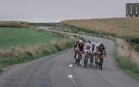 the breakaway comes within reach of the chasing peloton<br /> <br /> 77th Euro Metropole Tour 2017<br /> La Louvière > Tournai (BEL): 188.6 km