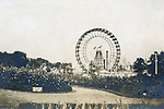 St Louis Mo:  View of the Ferris Wheel from one of the parks at the St Louis World's Fair