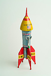 Vintage tin Saturn Missle toy