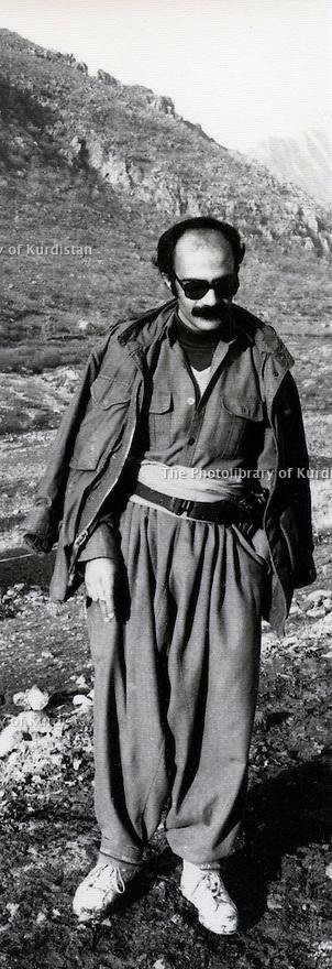Iraq 1984 Mohammed Khademi in Alan near the Iraqi border  <br /> Irak 1984 Mohammed Khademi a Alan pres de la frontiere irakienne