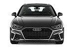 Car photography straight front view of a 2020 Audi A4 S-Line 5 Door Wagon