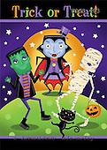 Janet, CUTE ANIMALS, halloween, paintings+++++,USJS403,#ac#