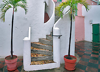 Old stairs in St. Thomas. Virgin Islands