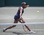 April  10, 2016:  Sloane Stephens (USA) defeated Elena Vesnina (RUS) 7-6, 6-2, at the Volvo Car Open being played at Family Circle Tennis Center in Charleston, South Carolina.  ©Leslie Billman/Tennisclix/Cal Sport Media