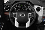 Car pictures of steering wheel view of a 2018 Toyota Tundra Limited-Crew-Max-Short-Bed 4 Door Pickup Steering Wheel
