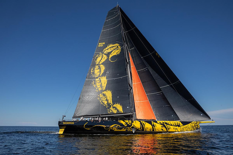 Over 350 boats are entered in the Fastnet Race, including the largest - the brand new ClubSwan 125 Skorpios belonging to Russian Dmitry Rybolovlev © Skoprios