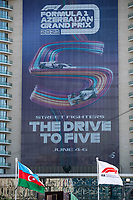 3rd June 2021; Baku, Azerbaijan;  Baku signage during the Formula 1 Azerbaijan Grand Prix 2021 at the Baku City Circuit, in Baku, Azerbaijan