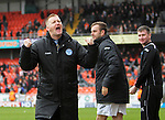 Dundee United v St Johnstone.....04.05.13      SPL.Steve Lomas celebrates at full time.Picture by Graeme Hart..Copyright Perthshire Picture Agency.Tel: 01738 623350  Mobile: 07990 594431