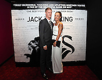 """Pictured: Footballer Alan Tate with his girlfriend. Friday 12 September 2014<br /> Re: Premiere of """"Jack To A King"""" a film about the history of Swansea City Football Club, at The Empire Cinema in Leicester Square, London, UK."""