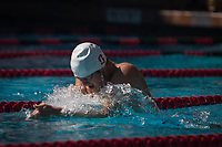 STANFORD, CA - February 17, 2018: Brennan Pastorek at Avery Aquatic Center. The Stanford Cardinal defeated the California Golden Bears 151-149 on Senior Day.