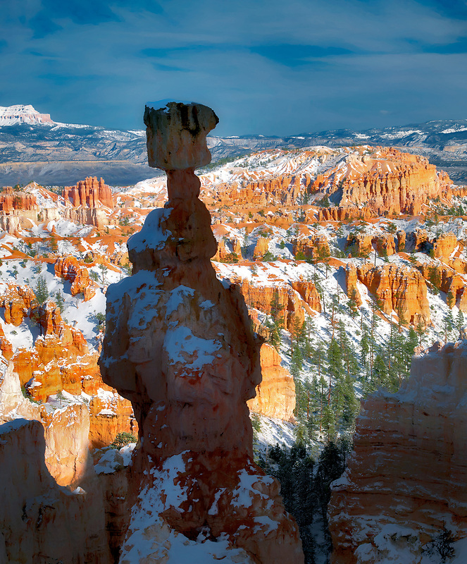 Thors Hammer with snow. Bryce Canyon National Park, Utah