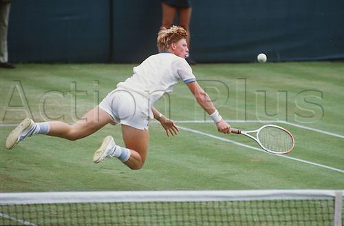 Boris Becker wins the Wimbledon  Tennis Tournament on 07 July 1985.
