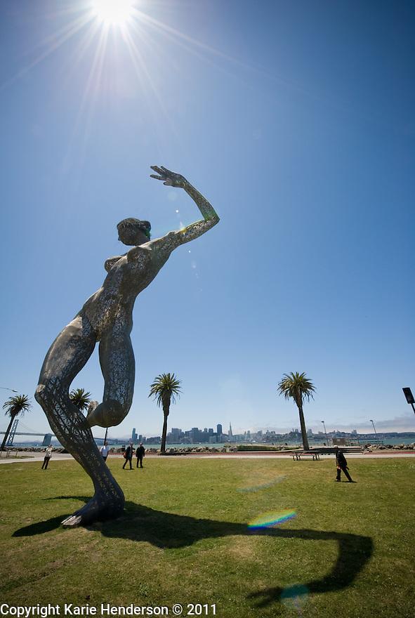 Bliss Dance by artist Marco Cochrane, on Treasure Island in the San Francisco Bay Area. © Karie Henderson 2011