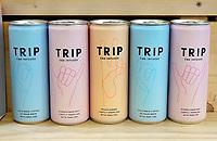 Nederland - Amsterdam -  2020. Blikjes TRIP. CBD infused drinks. 0.0. Alcoholvrij.   Foto Berlinda van Dam / Hollandse Hoogte