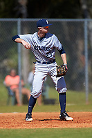 Butler Bulldogs third baseman Connor Dall (23) during a game against the Indiana Hoosiers on March 6, 2016 at North Charlotte Regional Park in Port Charlotte, Florida.  Indiana defeated Butler 2-1.  (Mike Janes/Four Seam Images)
