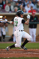 Dayton Dragons first baseman Avain Rachal (22) at bat during a game against the Great Lakes Loons on May 21, 2015 at Fifth Third Field in Dayton, Ohio.  Great Lakes defeated Dayton 4-3.  (Mike Janes/Four Seam Images)
