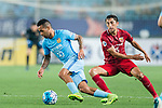 Jiangsu FC Forward Alex Teixeira (L) fights for the ball with Shanghai FC Midfielder Akhmedov Odil (R) during the AFC Champions League 2017 Round of 16 match between Jiangsu FC (CHN) vs Shanghai SIPG FC (CHN) at the Nanjing Olympic Stadium on 31 May 2017 in Nanjing, China. Photo by Marcio Rodrigo Machado / Power Sport Images