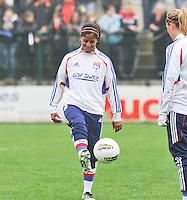 1/2 finale Coupe De France in Arras , stade Degouve : Arras - Olympique Lyonnais Lyon : Shirley Cruz.foto JOKE VUYLSTEKE / Vrouwenteam.be