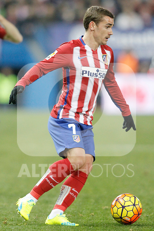 Atletico de Madrid's Antoine Griezmann during La Liga match. February 21,2016. (ALTERPHOTOS/Acero)