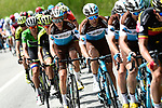 AG2R La Mondiale with leader Romain Bardet (FRA) on the front of the peleton during Stage 7 of the 2018 Criterium du Dauphine 2018 running 136km from Moutiers to Saint Gervais Mont Blanc, France. 10th June 2018.<br /> Picture: ASO/Alex Broadway | Cyclefile<br /> <br /> <br /> All photos usage must carry mandatory copyright credit (© Cyclefile | ASO/Alex Broadway)