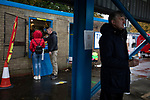 Stalybridge Celtic 0 Basford United 1, 24/10/2020. Bower Fold, Northern Premier League Premier Division. Spectators visit the tuck shop before Stalybridge Celtic take on Basford United in a Northern Premier League Premier Division match at Bower Fold. Formed in 1906, the home club were founder members of the Third Division North in 1921 but left after two season and have competed in county and regional competitions ever since. The visitors from Nottinghamshire won this match 1-0, watched by a crowd of 343 spectators. Photo by Colin McPherson.