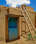 Blue door at Taos Pueblo, New Mexico