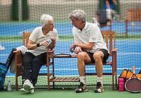 Hilversum, The Netherlands, March 09, 2016,  Tulip Tennis Center, NOVK, Mixed Doubles, Piet Bovenhof and Trees Ubbink-Kok<br /> Photo: Tennisimages/Henk Koster