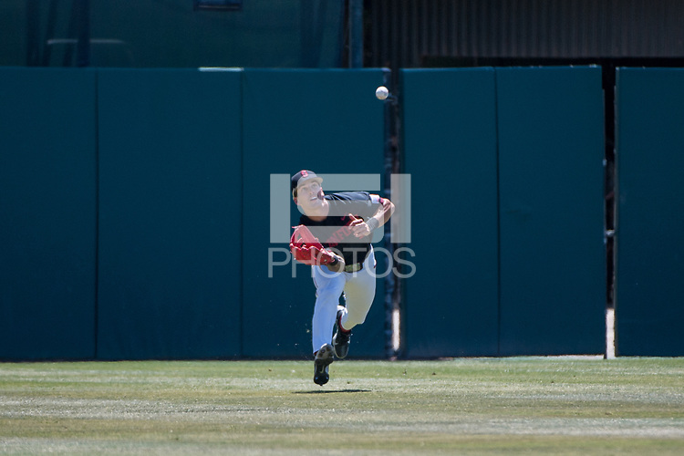 STANFORD, CA - MAY 29: Brock Jones during a game between Oregon State University and Stanford Baseball at Sunken Diamond on May 29, 2021 in Stanford, California.