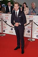 AJ Pritchard<br /> arriving for the National Television Awards 2021, O2 Arena, London<br /> <br /> ©Ash Knotek  D3572  09/09/2021