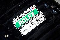 17-19  July, 2009, Birmingham, Alabama USA.Detail: Grand Am Rolex decal on the #12 Penske Racing Porsche/Riley.©2009 F.Peirce Williams, USA.