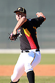 Pittsburgh Pirates 1st round draft pick - 2nd overall out of The Woodlands High School - pitcher Jameson Taillon (37) delivers a pitch vs. the Philadelphia Phillies in an Instructional League game at Pirate City in Bradenton, Florida;  October 5, 2010.  Photo By Mike Janes/Four Seam Images