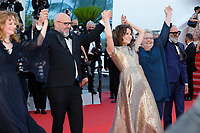 """CANNES, FRANCE - JULY 13: Pascale Desrochers, Sylvain Marcel, Valerie Lemercier, Danielle Fichaud, Roc Lafortune at the """"Aline, The Voice Of Love"""" screening during the 74th annual Cannes Film Festival on July 13, 2021 in Cannes, France. <br /> CAP/GOL<br /> ©GOL/Capital Pictures"""