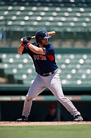GCL Red Sox Dominic D'Alessandro (64) bats during a Gulf Coast League game against the GCL Orioles on July 29, 2019 at Ed Smith Stadium in Sarasota, Florida.  GCL Red Sox defeated the GCL Pirates 9-1.  (Mike Janes/Four Seam Images)