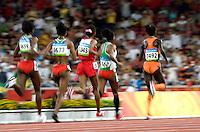 15 AUG 2008 - BEIJING, CHN - Lornah Kiplagat (NED) leads the field in the Womens 10000m final -  Beijing Olympics. (PHOTO (C) NIGEL FARROW) *** IOC RULES APPLY ON USAGE ***