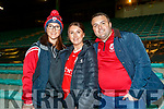 Aisling, Niamh and Padraig O'Sullivan (Farranfore) at the Kerry County Senior Football Championship Final match between East Kerry and Mid Kerry at Austin Stack Park in Tralee on Saturday night.
