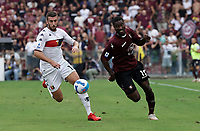 2nd October 2021; Arechi Stadium, Salerno, Italy; Serie A football, Salernitana versus Genoa : Mattia Bani of Genoa Cedric beaten by the break from Goddo of Salernitana
