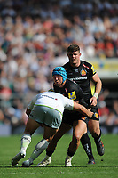 Jack Nowell of Exeter Chiefs is tackled during the Aviva Premiership Rugby Final between Exeter Chiefs and Saracens at Twickenham Stadium on Saturday 26th May 2018 (Photo by Rob Munro/Stewart Communications)
