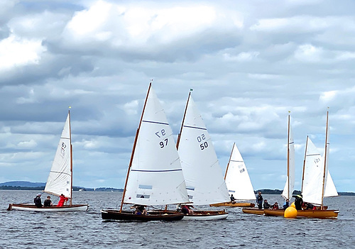 Shannon One Designs helping Lough Ree YC celebrate its Quarter Millennium. The Shannon Class celebrates its own Centenary in 2022. Photo: Con Murphy