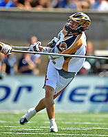 24 August 2008: Rochester Rattlers' Midfielder Joe Walters scores Rochester's 13th goal in the 4th quarter against the Denver Outlaws during the Championship Game of the Major League Lacrosse Championship Weekend at Harvard Stadium in Boston, MA. The Rattles defeated the Outlaws 16-6 to take the league honor for the 2008 season...Mandatory Photo Credit: Ed Wolfstein Photo
