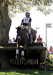 Bruce O. Davidson Jr. and BallyNoe Castle RM of the USA compete in the cross country phase of the FEI  World Eventing Championship at the Alltech World Equestrian Games in Lexington, Kentucky.