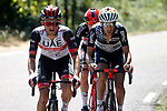 Fabio Aru (ITA) UAE Team Emirates during Stage 15 of La Vuelta d'Espana 2021, running 197.5km from Navalmoral de la Mata to El Barraco, Spain. 29th August 2021.     <br /> Picture: Luis Angel Gomez/Photogomezsport | Cyclefile<br /> <br /> All photos usage must carry mandatory copyright credit (© Cyclefile | Luis Angel Gomez/Photogomezsport)